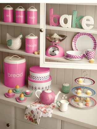 Cute kitchen stuff  (spell out bake in letters)