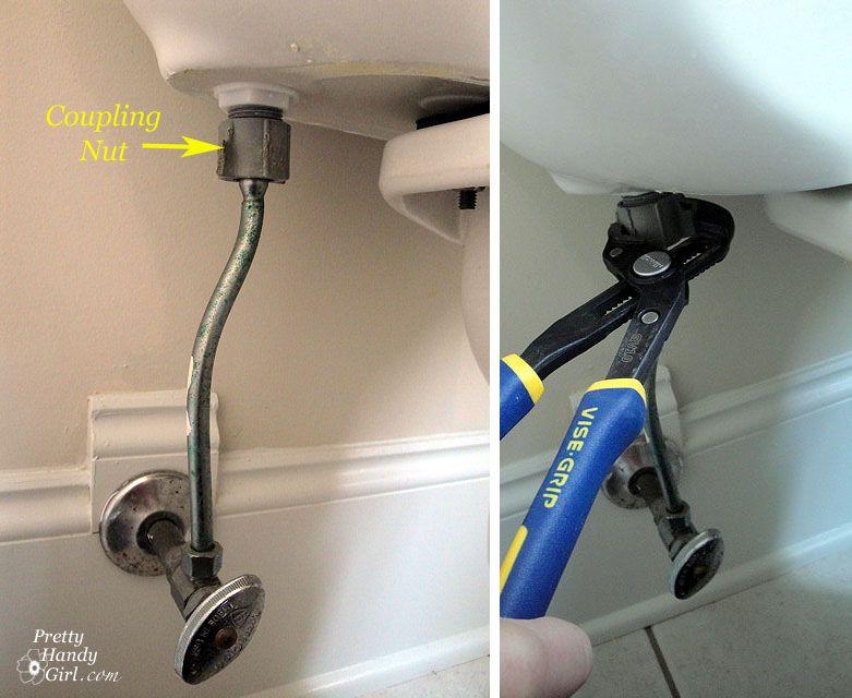 Toilet supply line valve repair