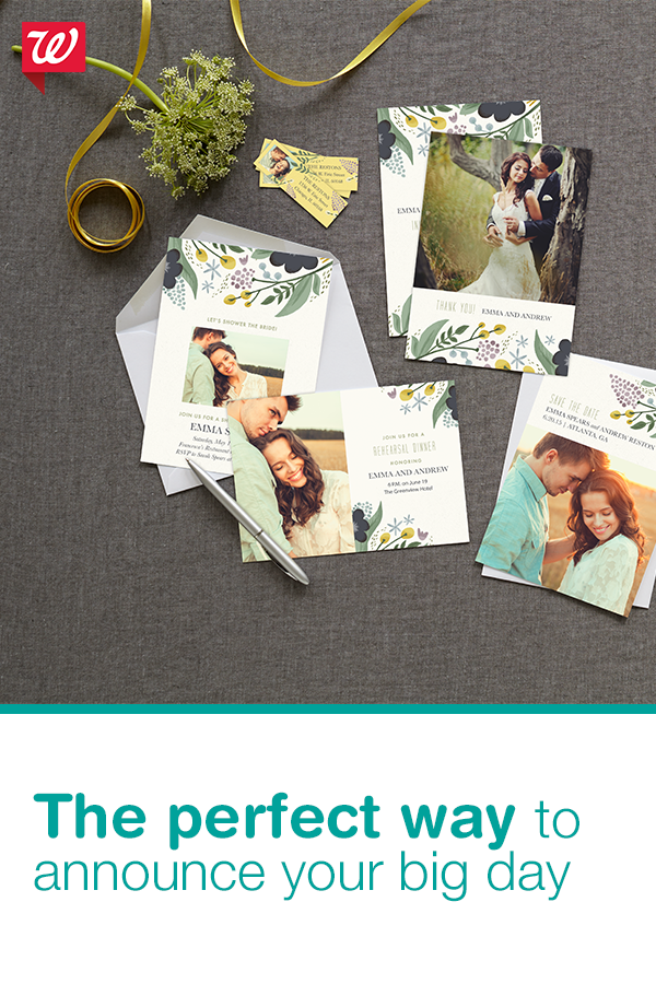 Getting Hitched Add Your Best Couples Photo And Create A Beautiful Save The Date That Won T Break The Bank At Walgre With Images Wedding Cards Wedding Announcements Cards