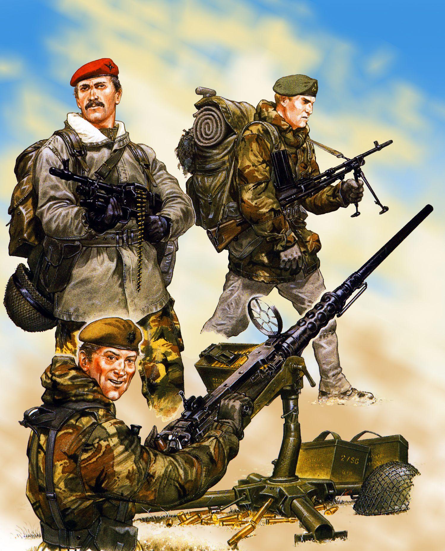 British Parachute Regiment and SAS Commando during the Falklands War