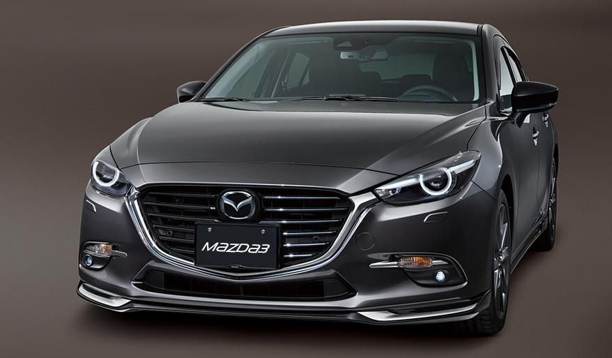 Aero Kit Front Air Dam Jet Black And Silver Mazda3 Sedan Hatchback 2017 2018 In 2020 Mazda 3 Mazda Mazda 3 Sedan