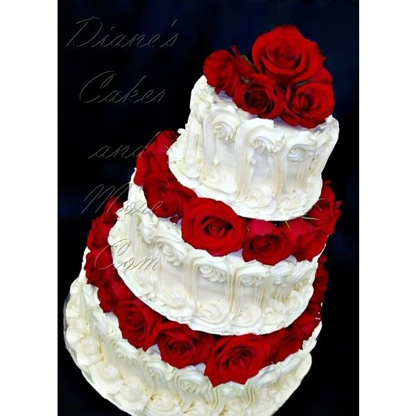 Wedding Cake Pictures ❤ liked on Polyvore featuring home, kitchen & dining, cake, food and weddings