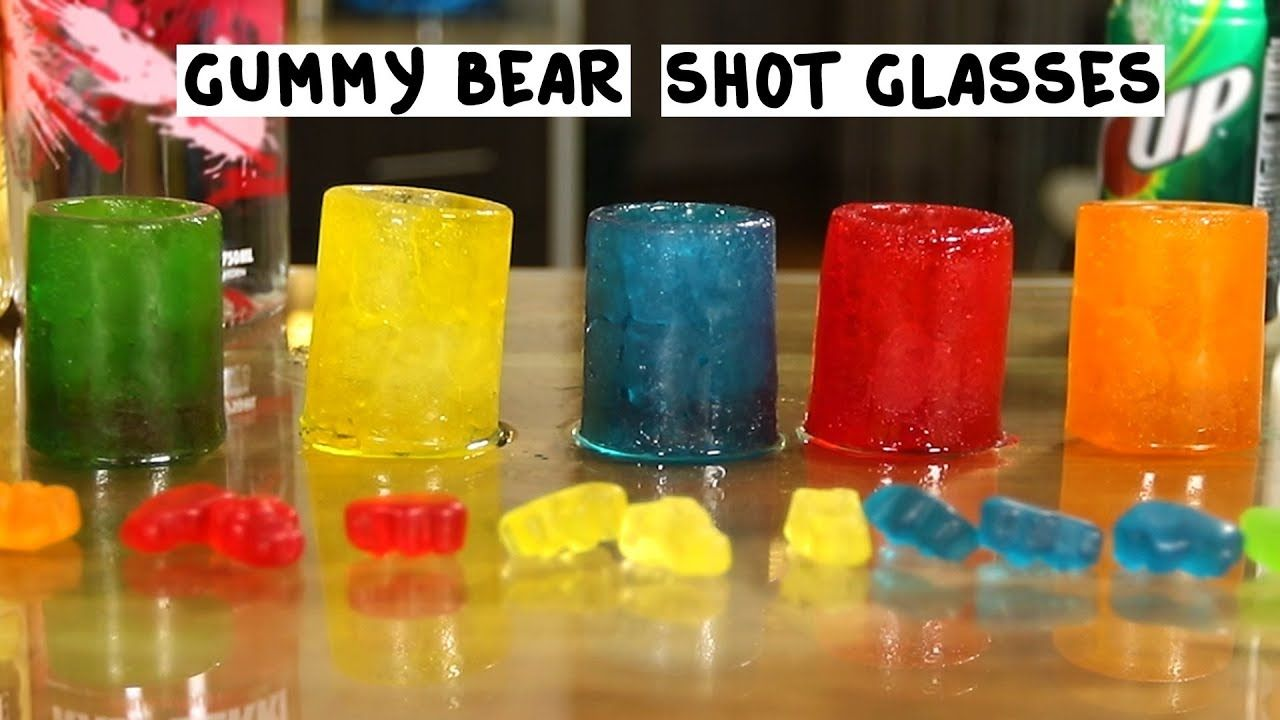 Gummy Bear Shot Glasses & White Gummy Bear Shot #raspberryvodka
