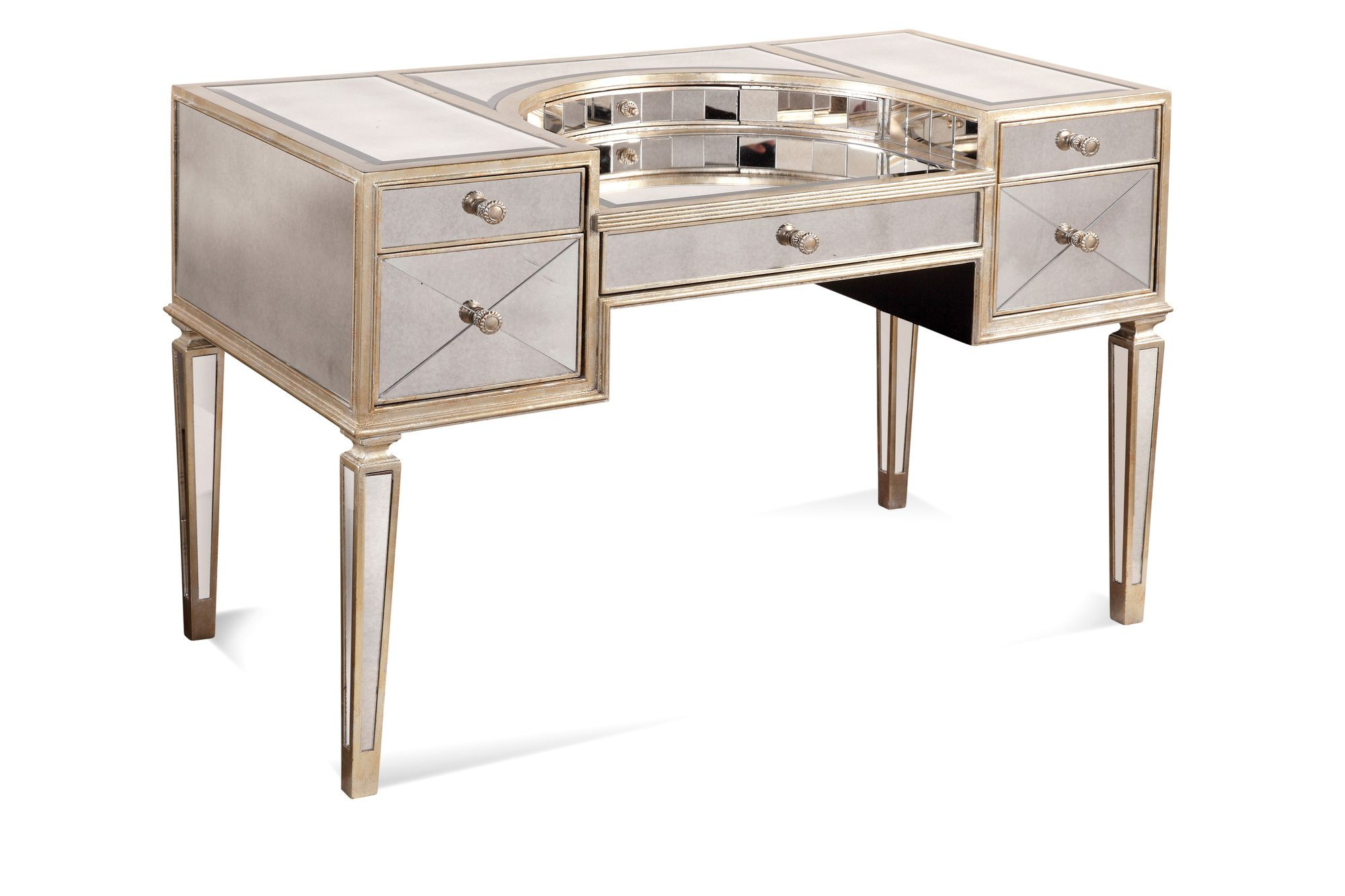 borghese mirrored furniture. Bassett Mirror Borghese Mirrored Ladies Writing Desk Furniture M