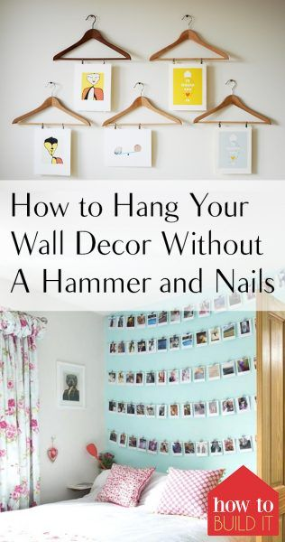 How To Hang Your Wall Decor Without A Hammer And Nails Hanging