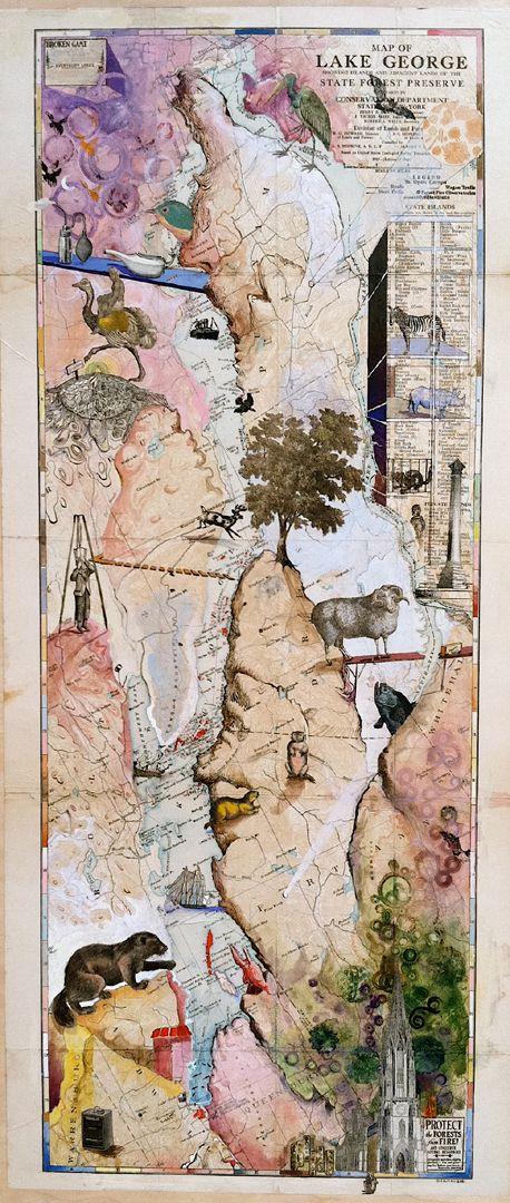 Map of Lake George, Josh Dorman
