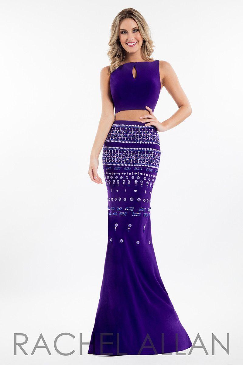 Rachel Allan 7545 Purple Prom Dress