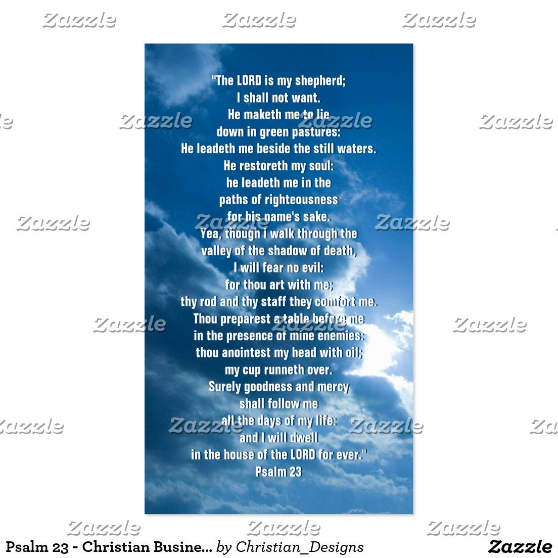 Psalm 23 - Christian Business Card | Buy | Pinterest | Psalm 23