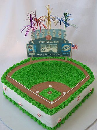 Baseball Stadium Cake For Jeanie Jones Baseball Pinterest