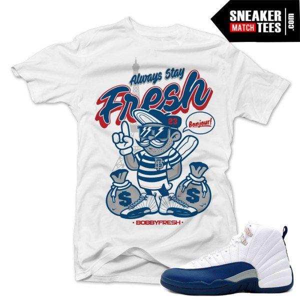 7c6b477c5a1de6 match jordan 12 french blue shirts retro 12 sneaker tees