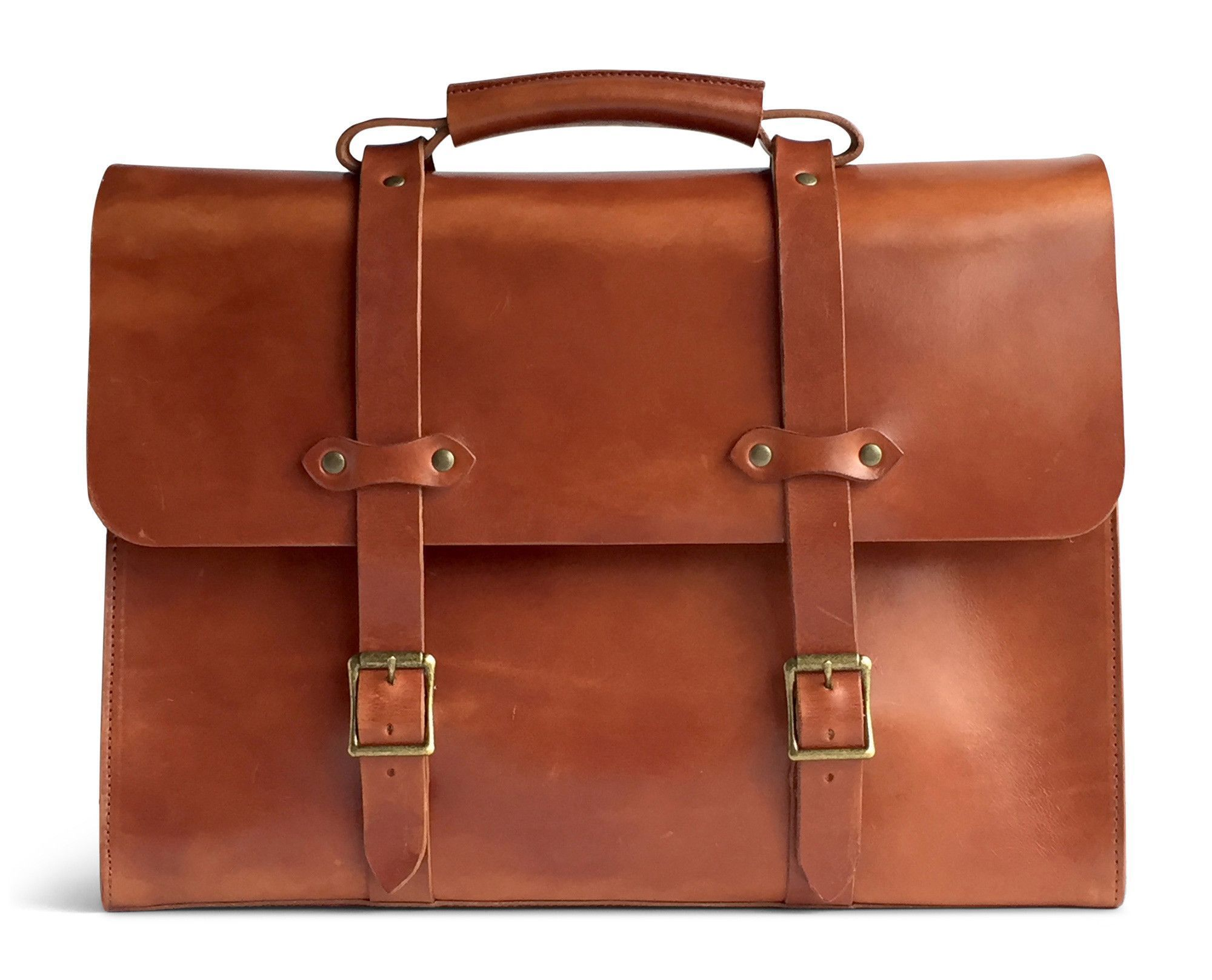 1a5c7a41e1 Vintage leather briefcase made with full grain vegetable tanned leather in  the USA (saddle tan front)  Mensaccessories