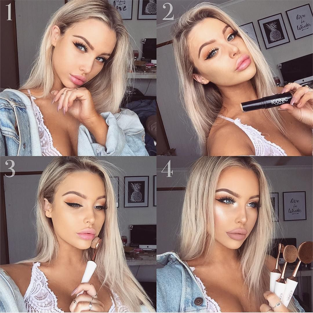 My Step By Step Foundation Routine Using The Iconic London Pigment Sticks Along With Their Evo Brushes To Give Me Th Dewy Makeup Look Makeup Looks Hair Beauty