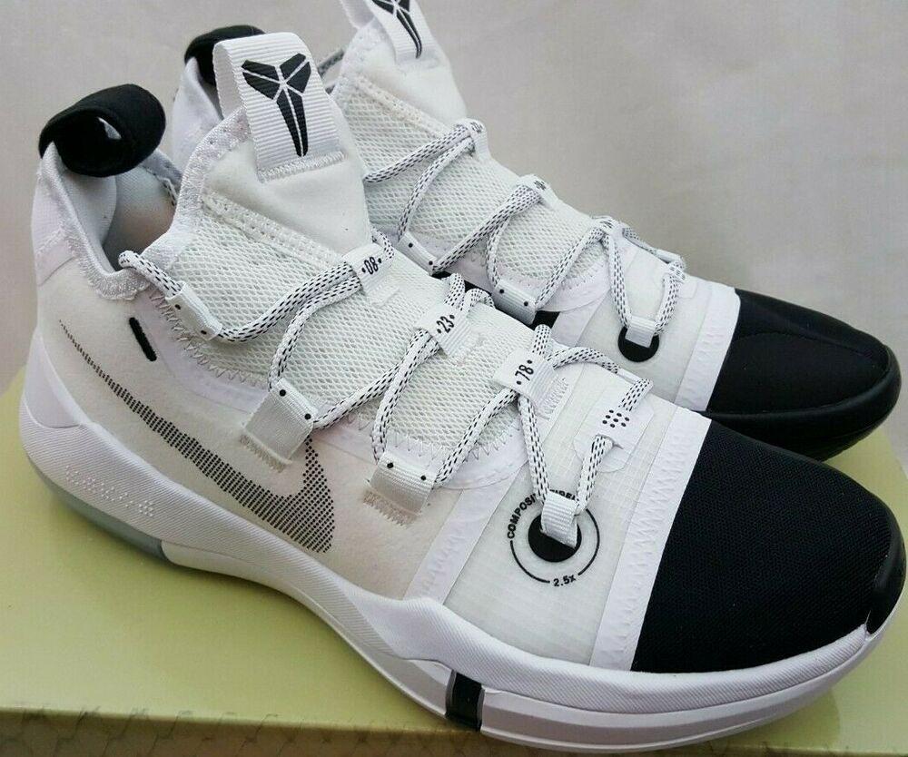 Nike Kobe AD Black Toe White Black A.D