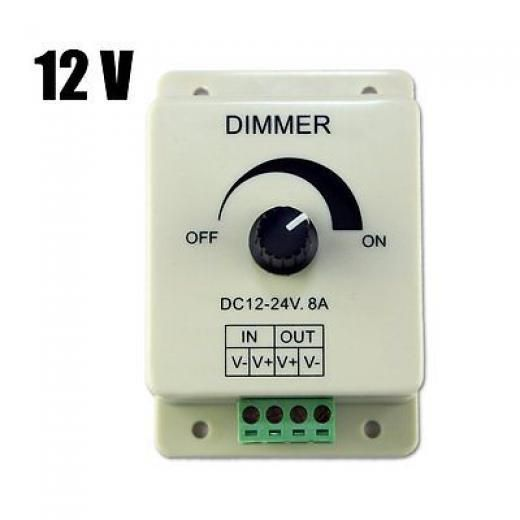 Dc 12v 8a Light Dimmer Brightness Control For Single Color Led Strip S7m7 4894462104705 Led Strip Lighting Dim Lighting Led Color