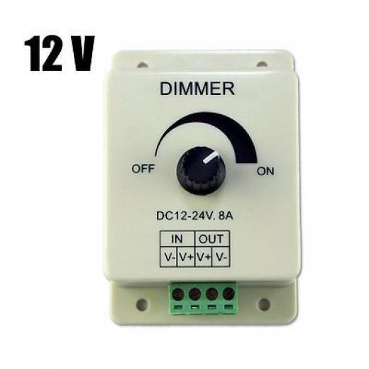 Dc 12v 8a Light Dimmer Brightness Control For Single Color Led Strip S7m7 4894462104705 Led Strip Lighting Dim Lighting Led Color