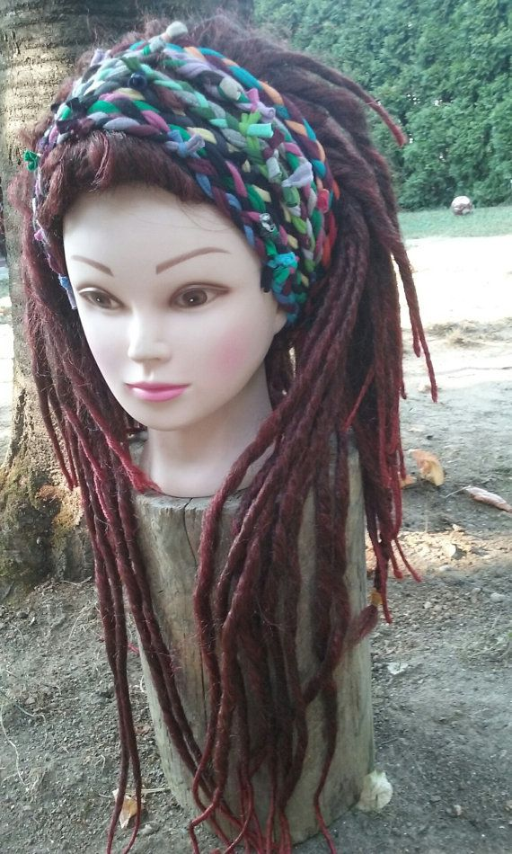 Dreadlocks Headband Boho Chic Head Wrap Gypsy By Unikatina