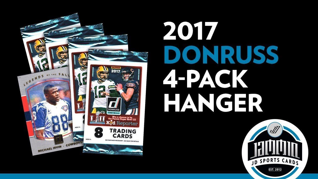 2017 donruss football 4 pack hanger break football box