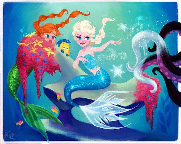Elsa as Ariel