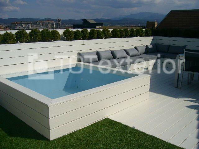 Reforma integral de terraza tico piscinas pinterest for Piscinas prefabricadas pequenas