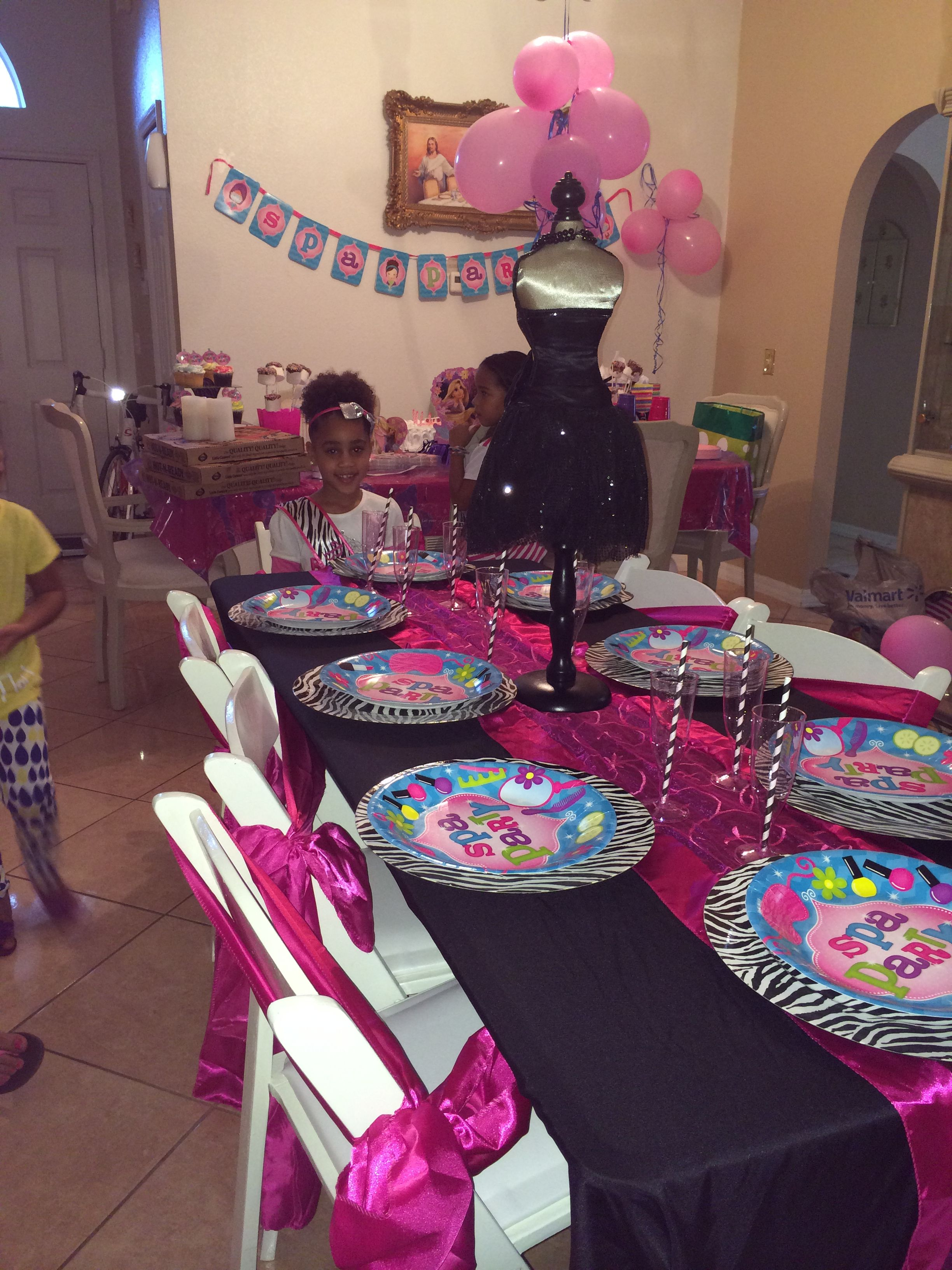 Girls Birthday Spa Party!! Table setup for food!! | Girls Spa Party ...