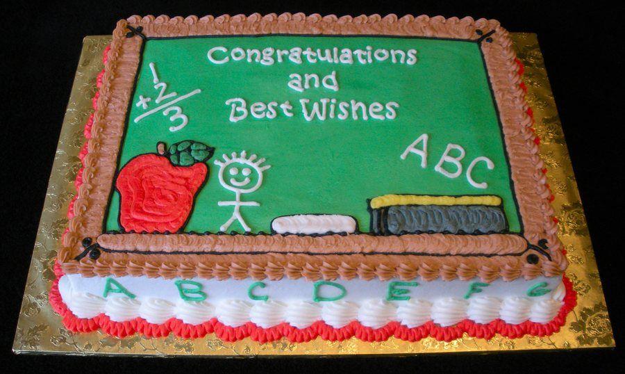 Chalkboard Teacher Cakes Graduation Sheet Cakes Graduation Cakes Preschool graduation sheet cake