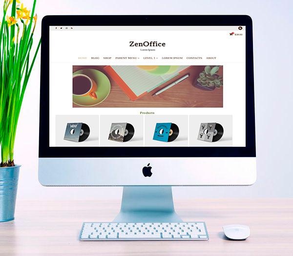 ZenOffice Wordpress theme responsive, Wordpress theme