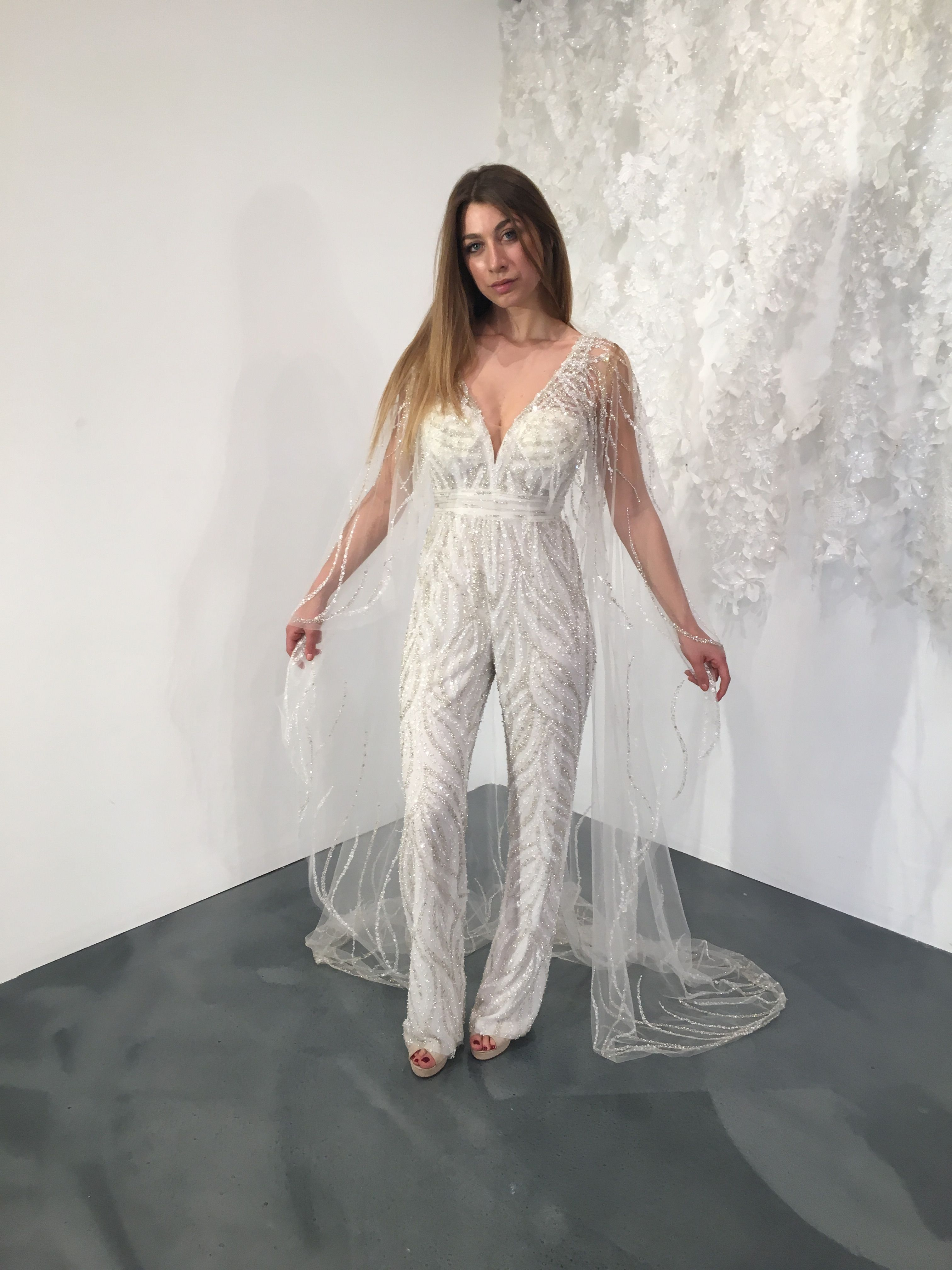 a1332c5fd9b Stephen Yearick Jumpsuit. Visit www.bridalreflections.com for more  information.