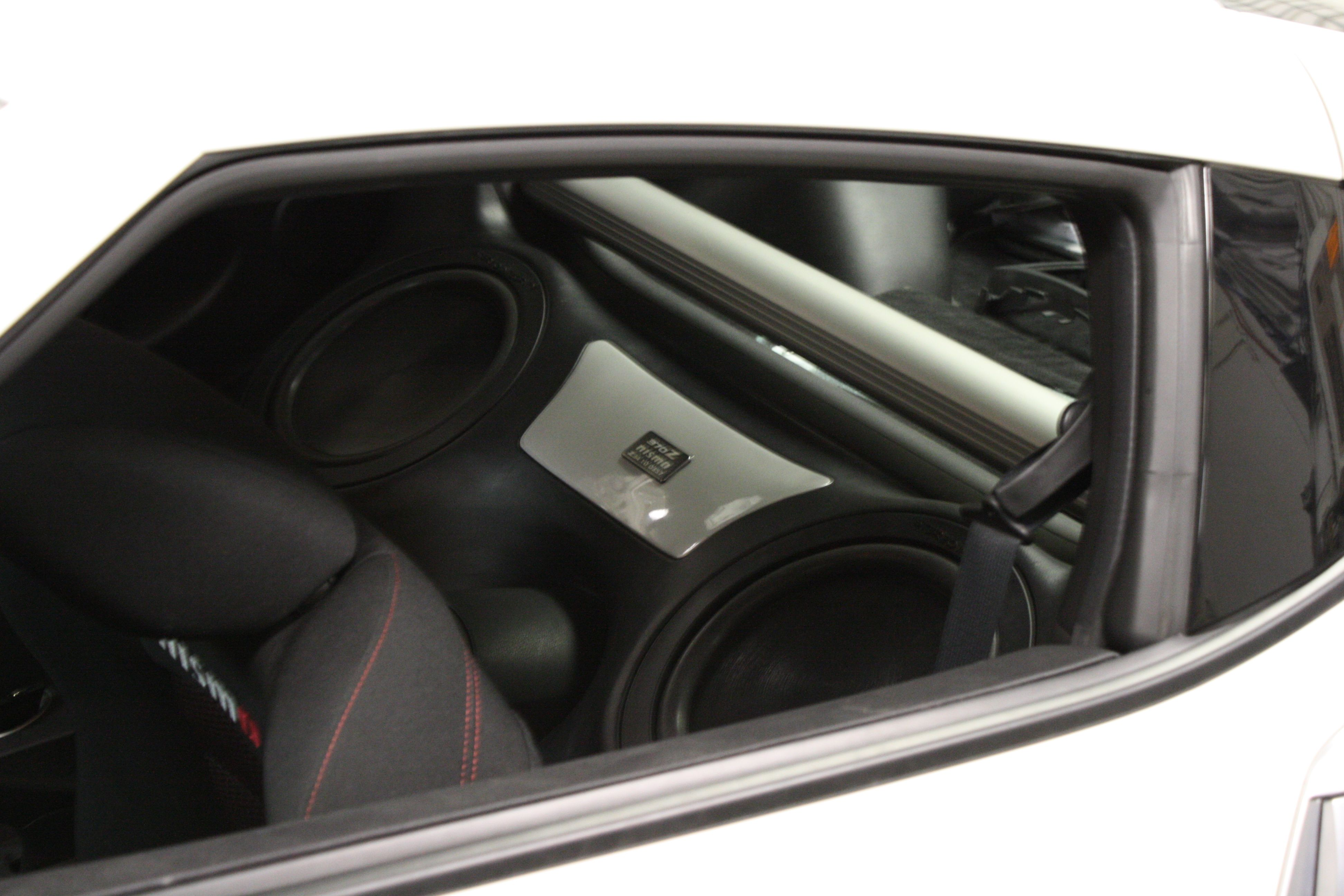 Nissan 370z Custom Fiberglass Subwoofer Enclosure 370z Custom Nissan 370z Subwoofer Enclosure