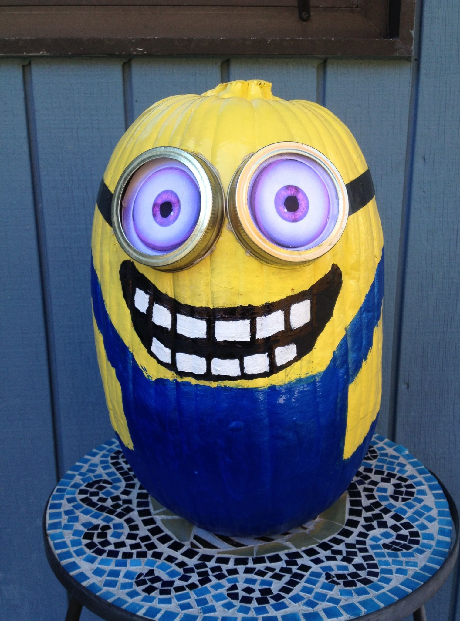 Painted Minion Pumpkins Minion Painted Pumpkin All You Need Is Some Spray Paint Paint
