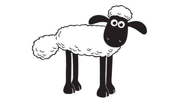 Picture Of Shaun The Sheep Coloring Page Jpg 600 340 Shaun The