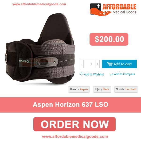 Aspen Horizon 637 LSO provides relief for secondary back pain resulting from surgery or injury. If you are looking this product in USA than no need to surfing just visit  Affordable Medical Goods and order this product at $ 200 only.