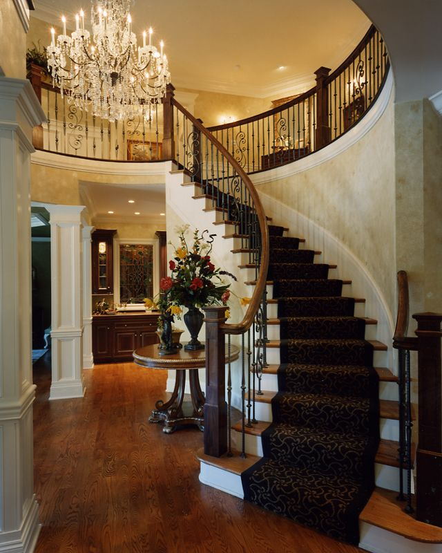 The grand staircase i can just see my future daughter for House plans with stairs in foyer