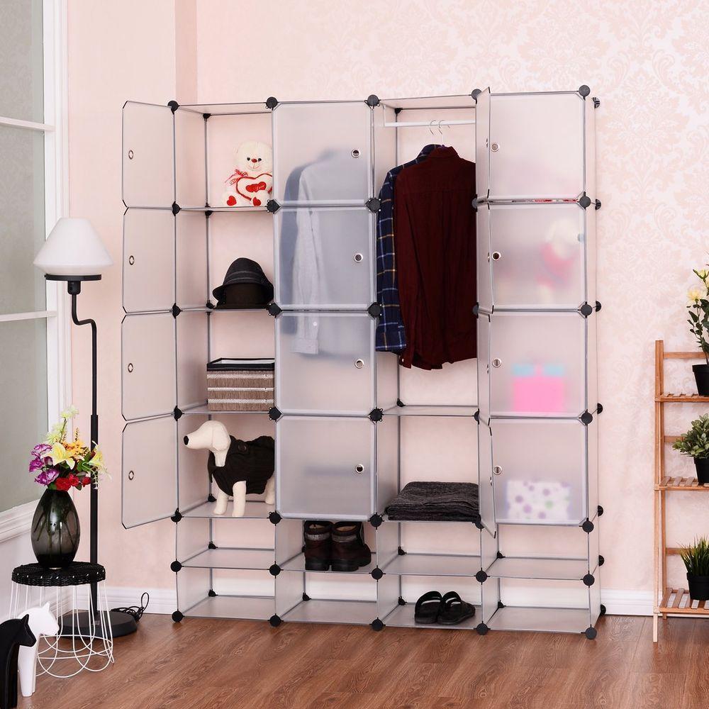 8+8 Cube Portable Modular Storage Closet ,Shoe Racks Organizer