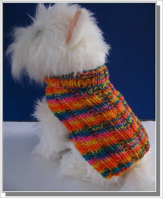 Fácil patrones que hacen punto para principiantes | patrón básico acanalado perro suéter que hace punto muy fácil de tejer PDF Celtic