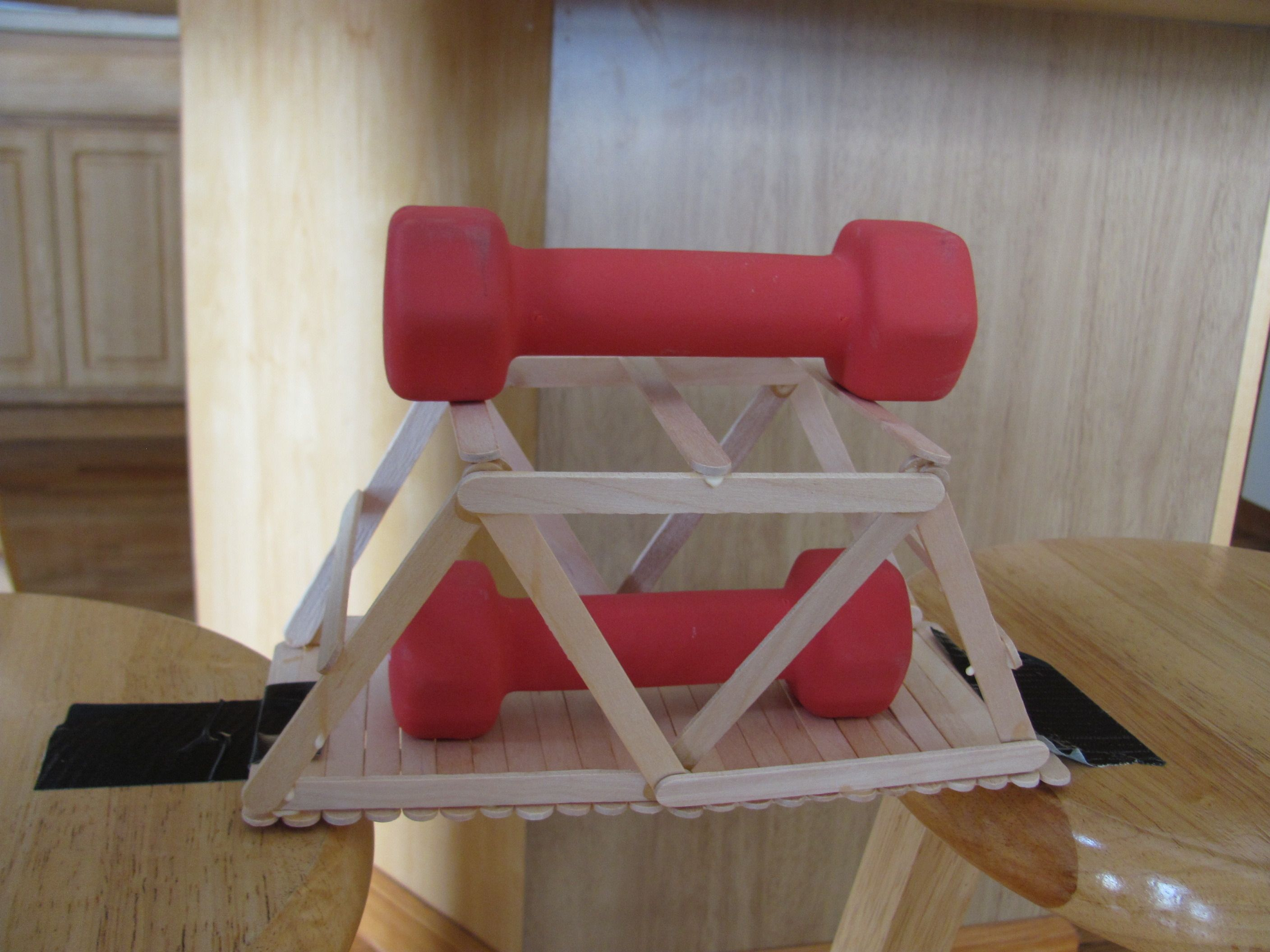popsicle stick bridge that holds 6+ lbs of weight ...