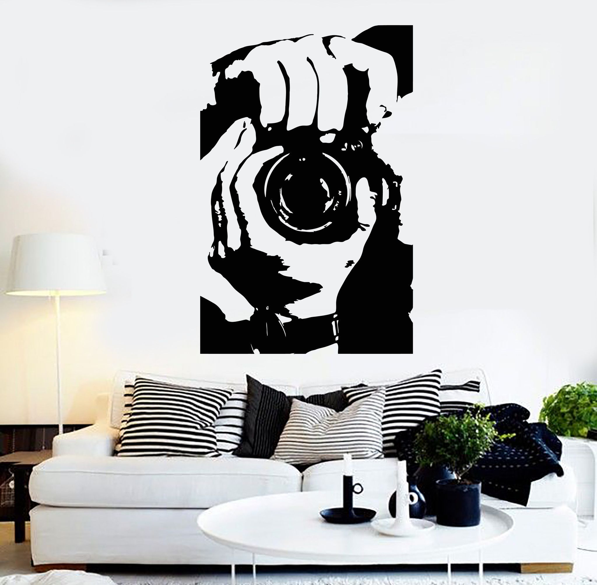 Vinyl Wall Decal Photographer Photo Studio Camera Stickers Mural