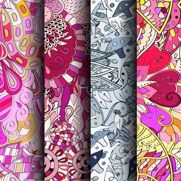 クラシック カラー パターン 12、シームレスなベクトル Vector