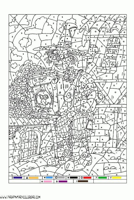 Image Result For Dibujos Para Colorear Con Números Arte Para Niños