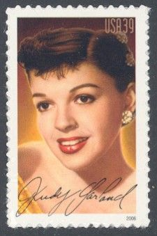 Judy Garland - Single Stamp 12th in Legends of Hollywood Series United States, 2006