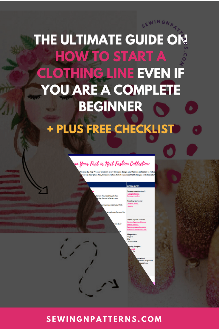 How To Start A Clothing Line Free Checklist To Design Your Fashion Collection Fashion Portfolio Design Your Own Clothes Internship Fashion