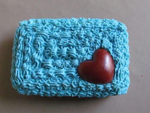 RFID-Auminum-Credit-Card-Wallet-Blue-Icing-Heart-Cake-Decoden-Cute-US-Handmade