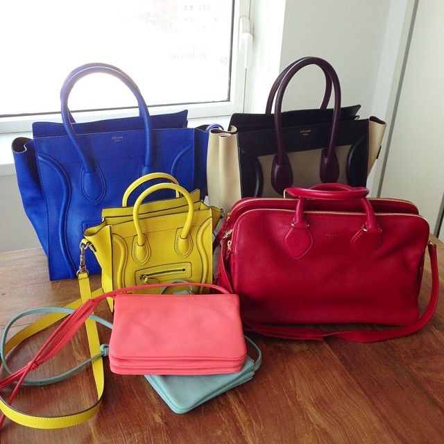 A rainbow of #Celine