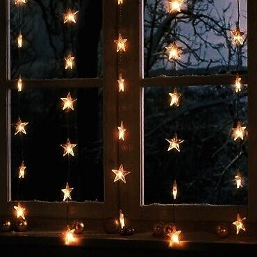 Hang Window Stars Christmas Aesthetic Fairy Lights Ravenclaw Aesthetic