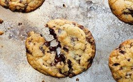 Chocolate Chip Cookie HERO / Photo by Chelsea Kyle, Food Styling by Rhoda Boone. | #Desserts  Sherman Financial Group