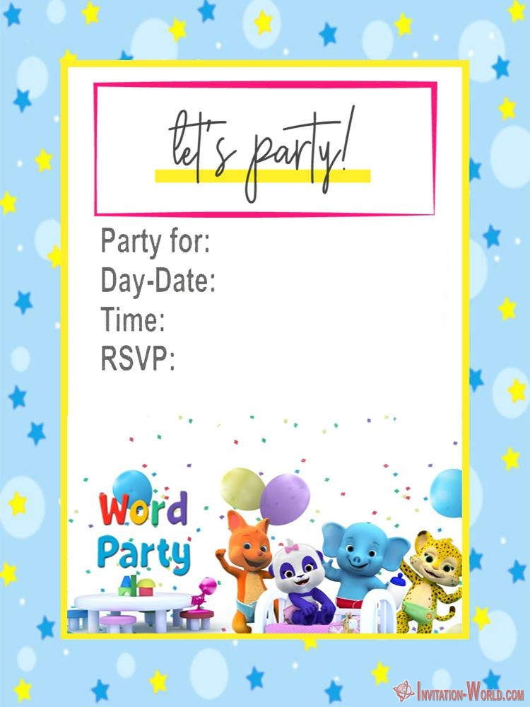 Word Party Invitation Cards Birthday Invitation Templates Party Invite Template Party Invitations