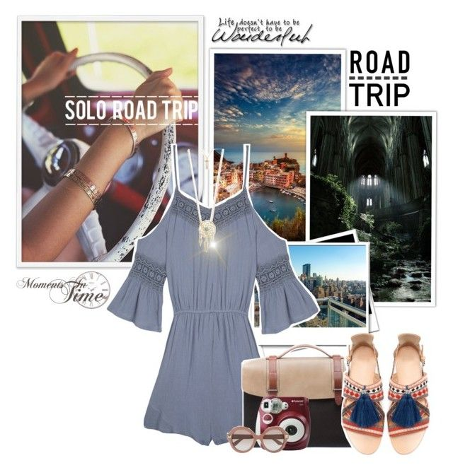 Summer Road Trip by modelely on Polyvore featuring polyvore, fashion, style, Wilde Heart, Zara, Seventy Eight Percent, Aéropostale, Valentino, Polaroid and roadtrip