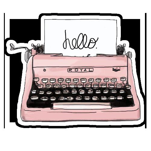 Pin By Sara Guimaraes On Stickers Retro Typewriter Typewriter Digital Illustration