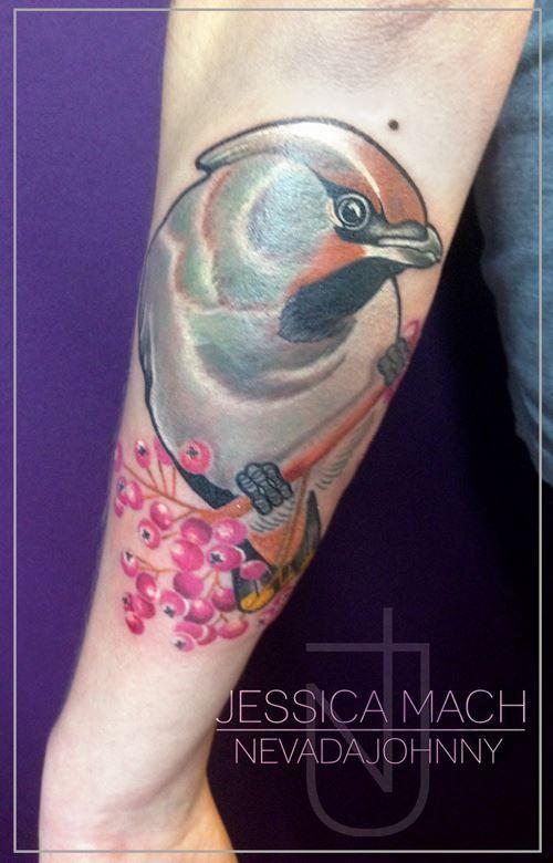 Bird tattoo by Jessica Mach from Nevada Johnny