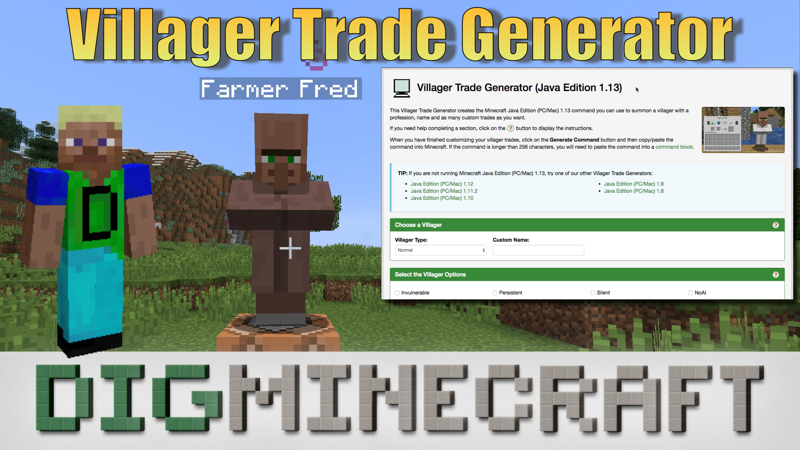 Have you ever wanted to summon a #Minecraft villager with
