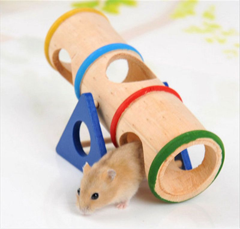 DIY Cage House Tunnel Hide Play Small Pet Toys For Hamster Rat Mouse Rabbit